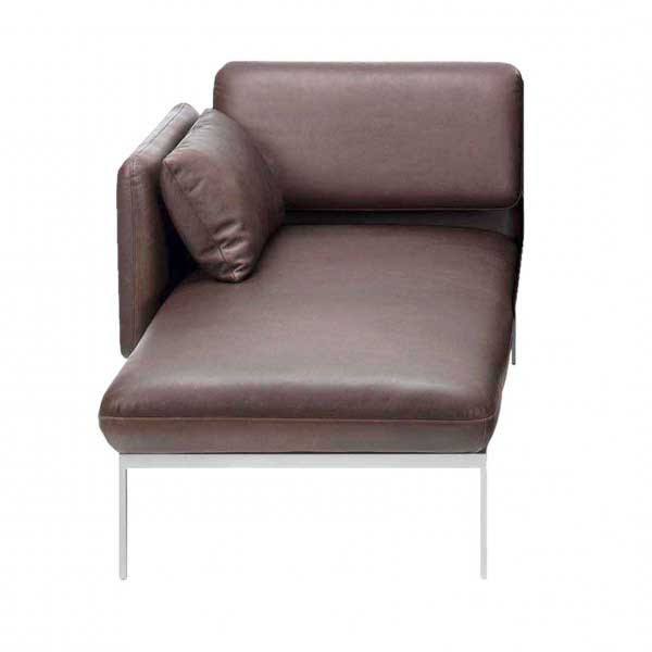brühl roro-medium - Longchair mit verschiebbarer Armlehne rechts 67022