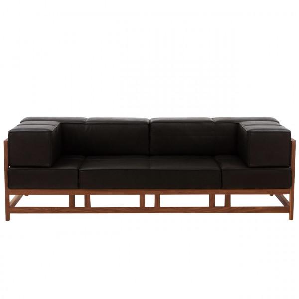 brühl easy pieces - wood - 3-er Sofa 62013