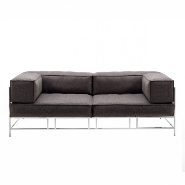 brühl easy pieces - metal - 3-er Sofa 62012