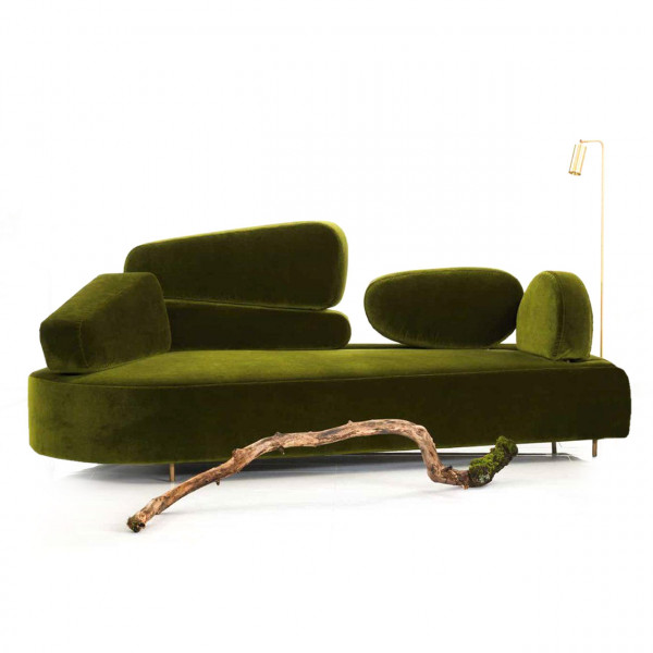 brühl mosspink - Sofa links 56396